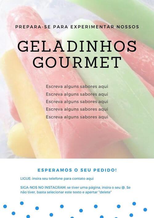 7) Placa de geladinho colorido experimente nossos sabores