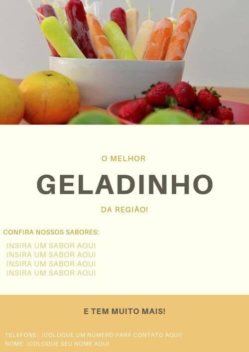 10) Placa de geladinhos coloridos, adicione seu contato