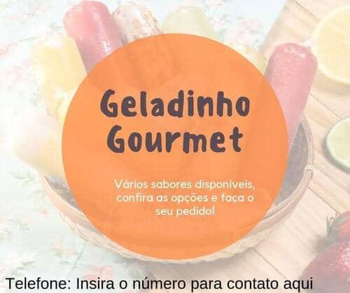 15) Post para facebook geladinho gourmet, insira seu número para contato na imagem.