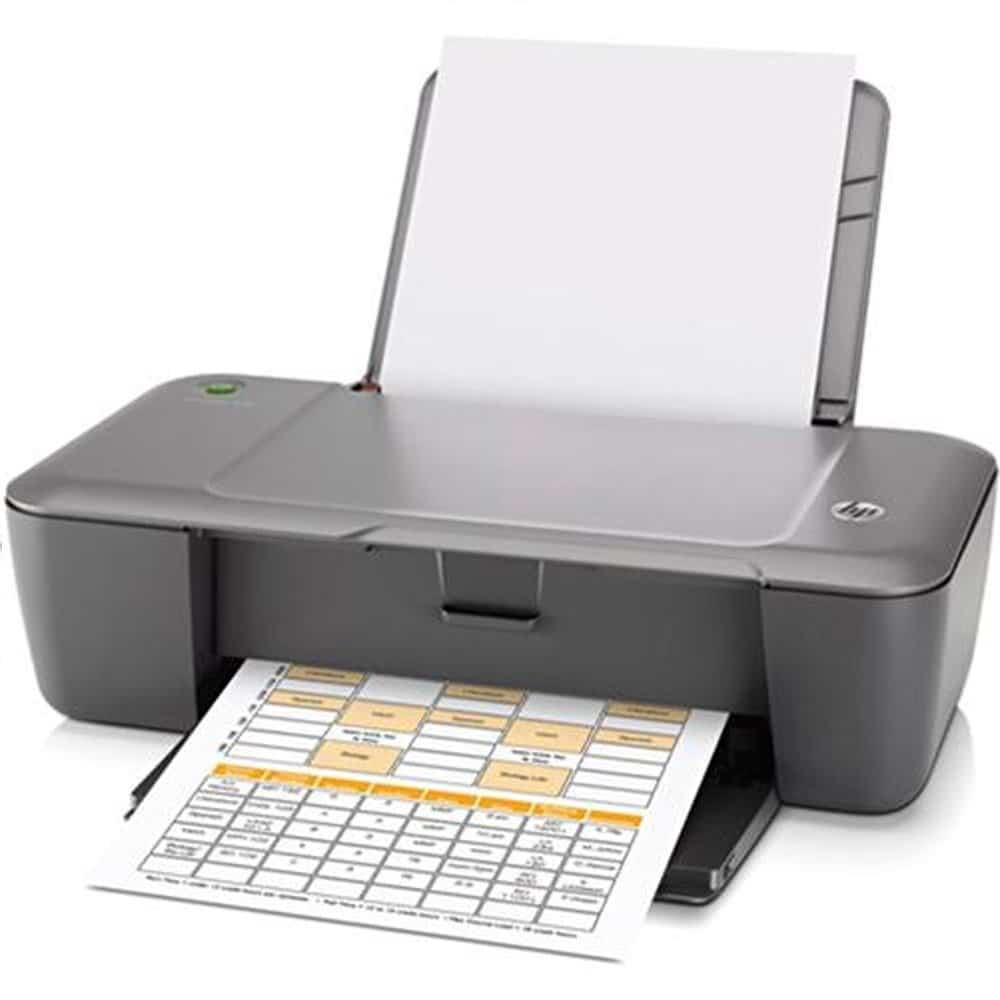 1) Impressora HP Deskjet 1000 frontal.