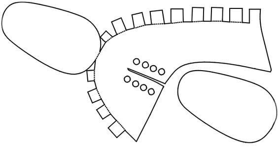 3) Modelo de sapatinho para por cadarço e adapta-lo da melhor forma.