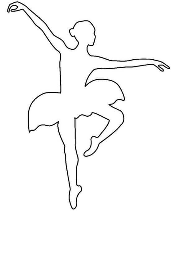 1) Modelo de molde de bailarina, 1.
