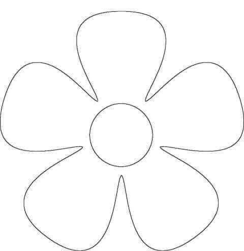 6) Molde simples para imprimir de flor