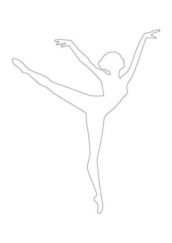 4) Modelo de molde de bailarina,4.