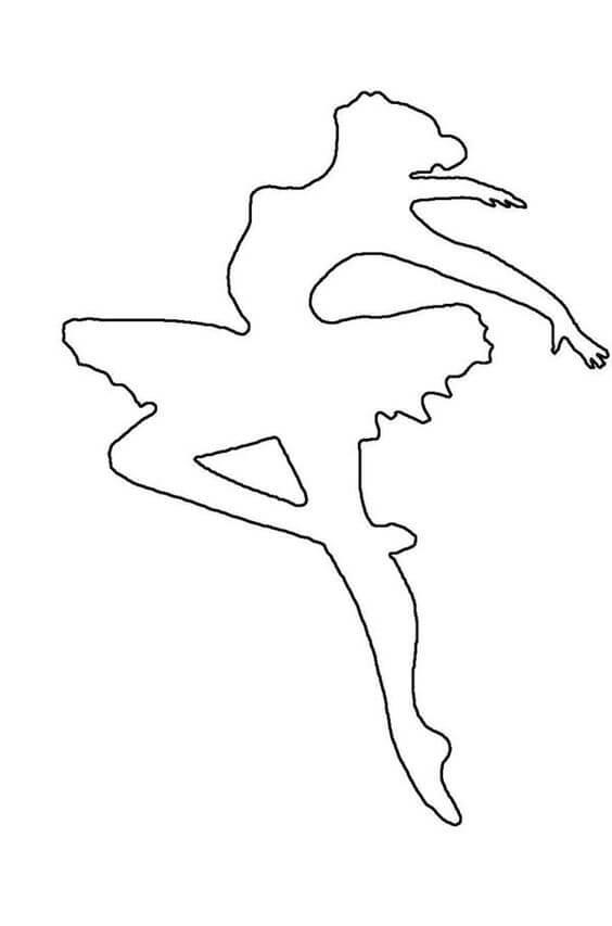 3) Modelo de molde de bailarina, 3.