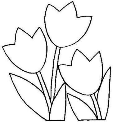 1) Molde de flores para imprimir.