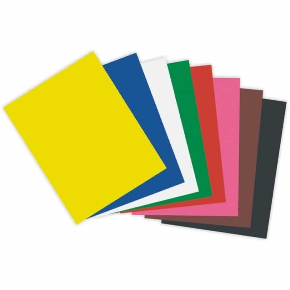 6) Papeis colorido para molde.