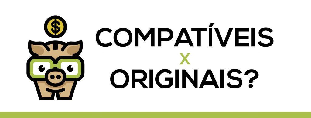 3) Veja a diferença entre toner compatível x toner originais