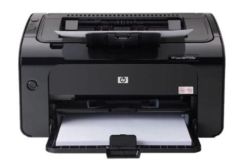 1) HP LaserJet P1102w frontal