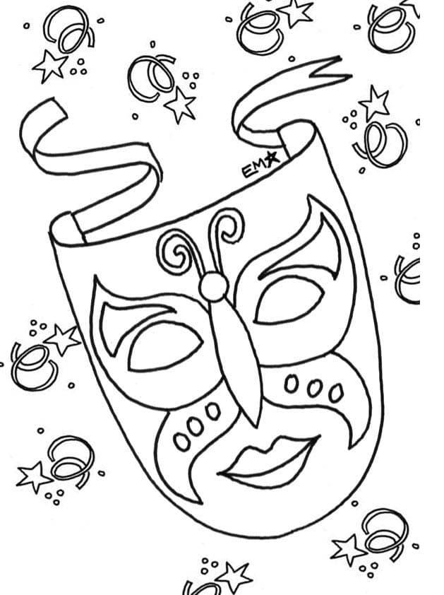 1) Máscara de carnaval infantil - Fonte Imagem: Pinterest.