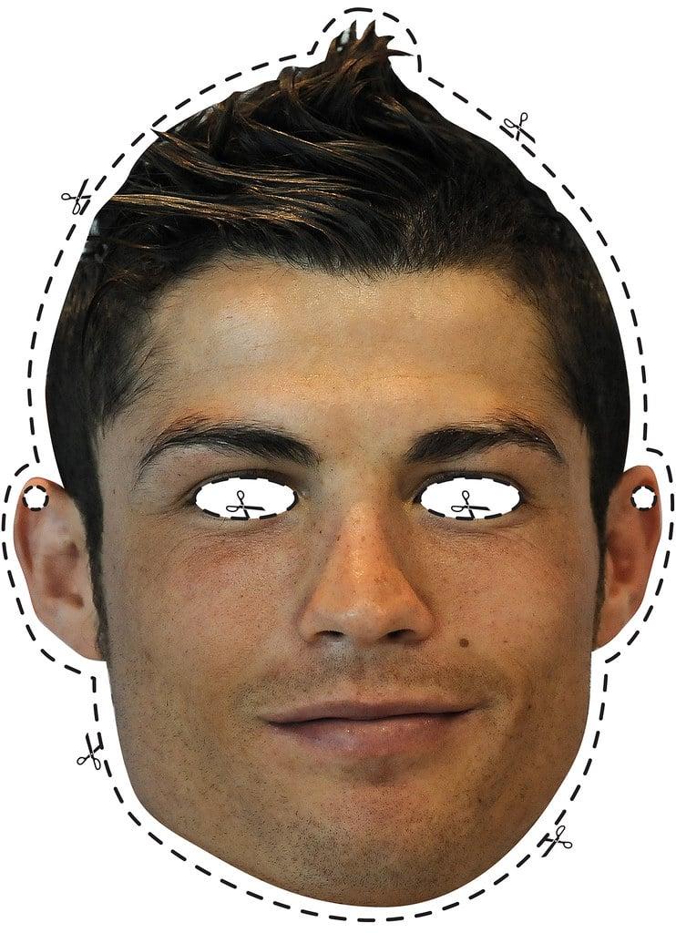 3) Máscara Cristiano Ronaldo para imprimir.