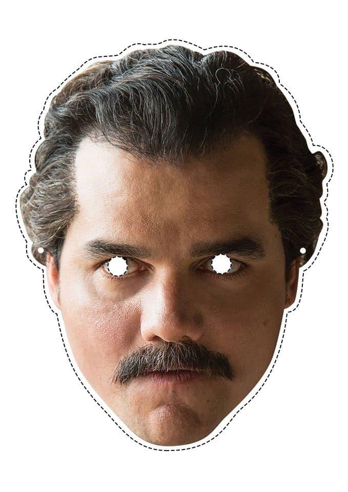 5) Máscara do Pablo Escobar para imprimir.