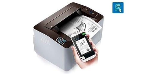 Conexão NFC impressora Samsung M2020W