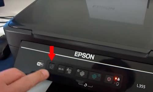 Luz laranja de tinta fixo Epson L395