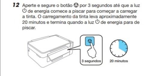 Luz Piscando da Impressora Epson L395