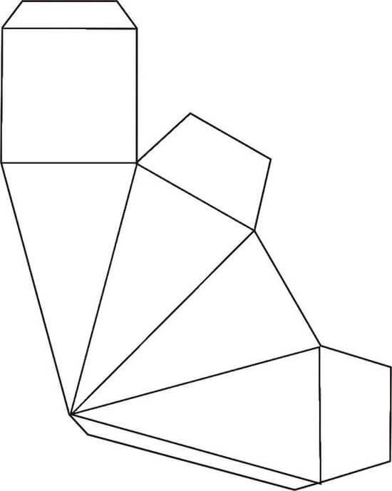 Molde de Cone de Papel com Base