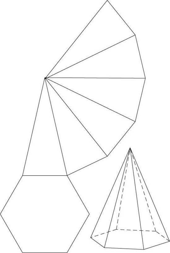 Cone com 6 Lados para Imprimir