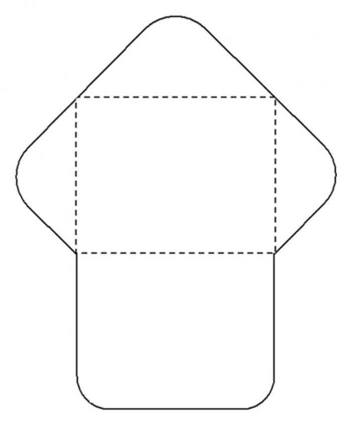 1) Molde de envelope tradicional de carta para  imprimir.