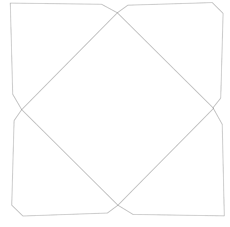 2) Molde de envelope para festa.