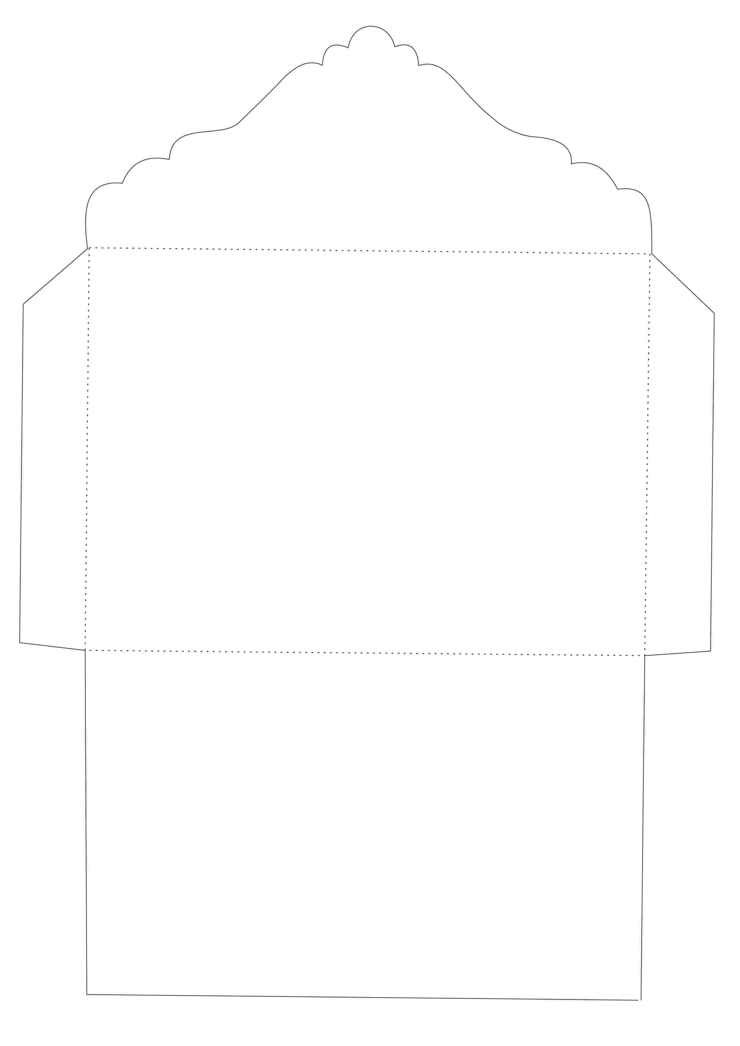 3) Molde de envelope quadrado