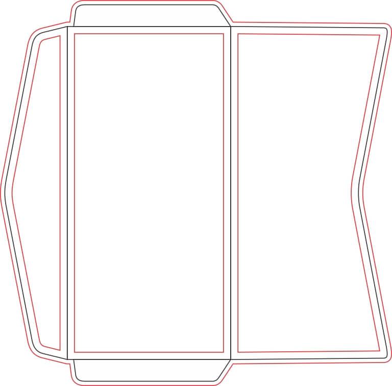 4) Molde de envelope de ofício.