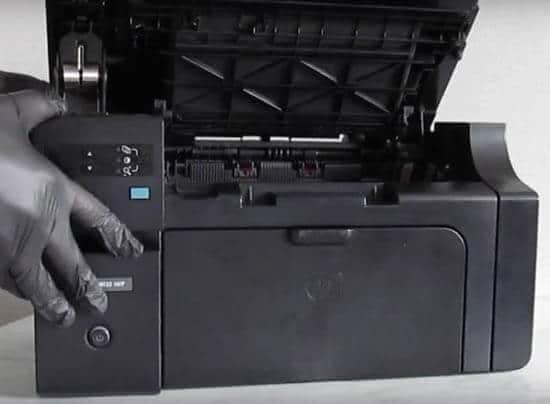 2) Impressora aberta.